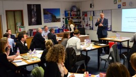David Lambert running a workshop with 31 teachers from Lincolnshire, England in January 2016