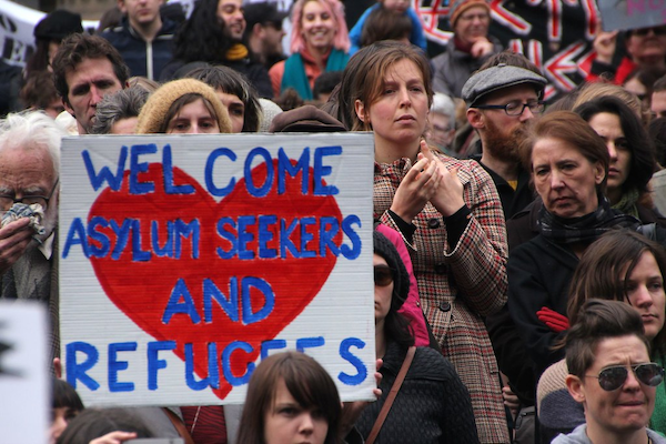 welcome refugees image